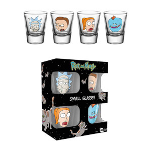 Rick and Morty Faces Shot Glasses from I Want One Of Those