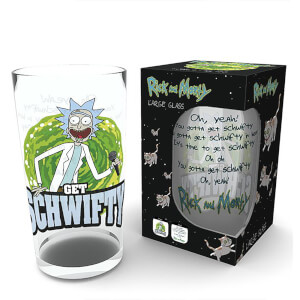 Rick and Morty Get Schwifty Coloured Large Glasses 16oz