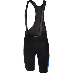 Castelli Velocissimo IV Bib Shorts - Black/Surf Blue