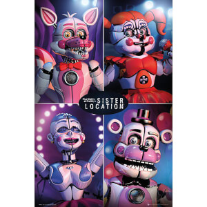 Five Nights at Freddy's Sister Location Quad Maxi Poster 61 x 91.5cm