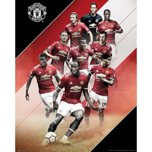 Manchester United Players 17/18 Mini Poster 40 x 50cm