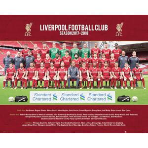 Liverpool Team Photo 17/18 Mini Poster 40 x 50cm