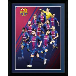 Barcelona Players 17/18 Framed Photograph 12 x 16 Inch