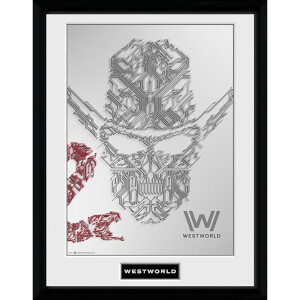 Westworld Face Framed Photograph 12 x 16 Inch