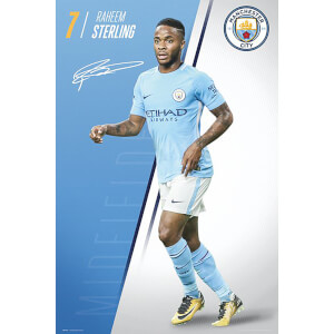 Manchester City Sterling 17/18 Maxi Poster 61 x 91.5cm