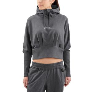 Skins Activewear Women's Spade Light Fleece Hoody - Charcoal Marle
