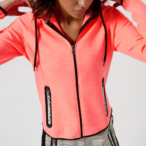 Superdry Sport Women's Gym Tech Luxe Zip Hoody - Coral