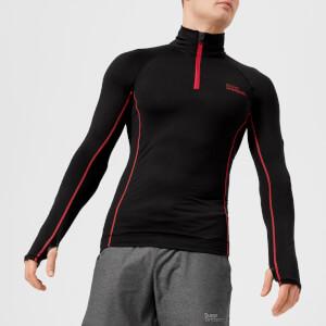 Superdry Sport Men's Athletic Henley Top - Black