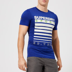 Superdry Sport Men's Athletic Graphic Short Sleeve T-Shirt - Deep Cobalt Blue