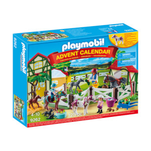 Playmobil Advent Calendar 'Horse Farm' with Flocked Horse (9262)