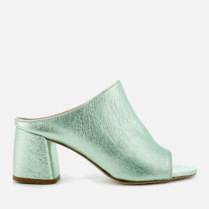 Rebecca Minkoff Women's Selene Heeled Mule Sandals - Rock Green