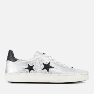 Rebecca Minkoff Women's Michell Flatform Trainers - Rock Silver/Stars Black