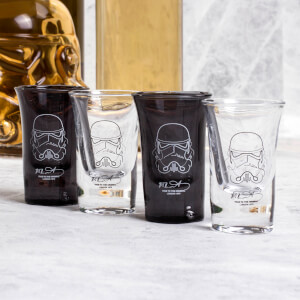 Original Stormtrooper Shot Glass Set - Clear/Black (Set of 4)