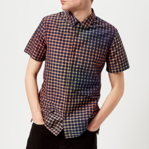PS by Paul Smith Men's Short Sleeve Gradated Print Casual Fit Shirt - Multi