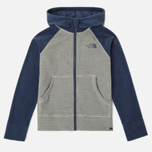 The North Face Boy's Glacier Full Zip Hoodie - Mid Grey/Cosmic Blue