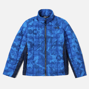 The North Face Boys' Thermoball Full Zip Jacket - Turkish Sea Metric MTN Print