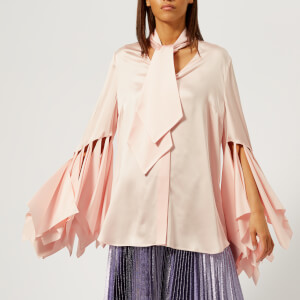 Christopher Kane Women's Rag Sleeve Satin Blouse - Pink