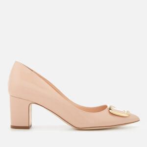 Rupert Sanderson Women's Spencer Patent Leather Pebble Court Shoes - Powder/Gold