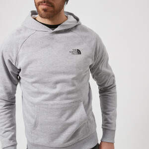 The North Face Men's Raglan Red Box Hoodie - TNF Light Grey Heather