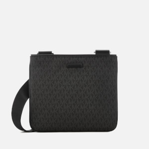 Michael Kors Men's Jet Set Small Flat Cross Body Bag - Black