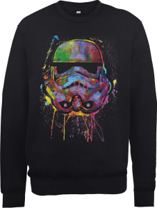 Star Wars Paint Splat Stormtrooper Pullover - Schwarz