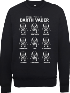 Sweat Homme Les Visages de Dark Vador - Star Wars - Noir