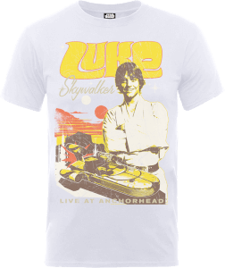 "Camiseta Star Wars Luke Skywalker ""Póster Rock"" - Hombre - Blanco"
