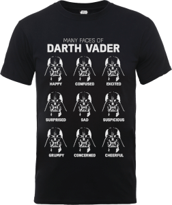 T-Shirt Star Wars Many Faces Of Darth Vader- Nero