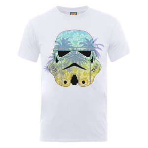T-Shirt Homme Stormtrooper Hawaii - Star Wars - Blanc