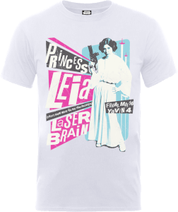 "Camiseta Star Wars Princesa Leia ""Póster Rock"" - Hombre - Blanco"