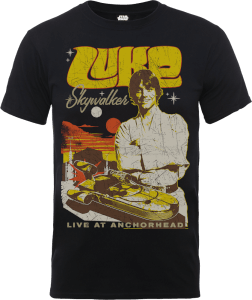 "Camiseta Star Wars Luke Skywalker ""Póster Rock"" - Hombre - Negro"