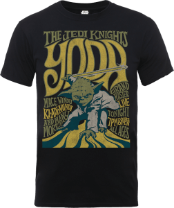 "Camiseta Star Wars Yoda ""The Jedi Knights"" - Hombre - Negro"