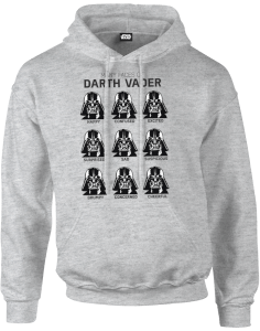 Star Wars Many Faces Of Darth Vader Hoodie - Grau