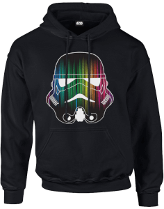 Felpa con cappuccio Star Wars Vertical Lights Stormtrooper Pullover- Nero