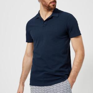 Orlebar Brown Men's Felix Waffle Pique Polo Shirt - Navy