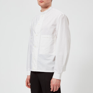 Lemaire Men's Double Front Overshirt - Nude/Chalk