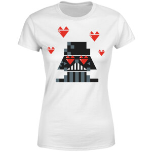 Star Wars Valentine's Vader In Love Women's T-Shirt - White