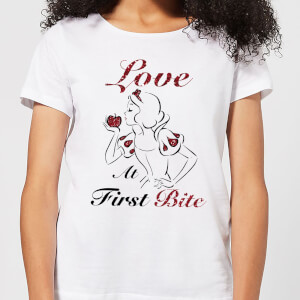 T-Shirt Femme Love At First Bite - Blanche - Neige (Princesse Disney) - Blanc