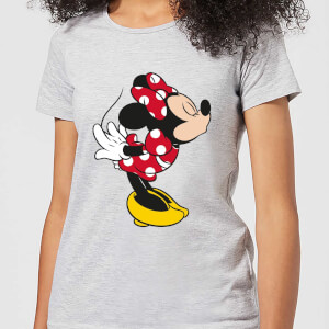 Disney Mickey Mouse Minnie Split Kiss Frauen T-Shirt - Grau
