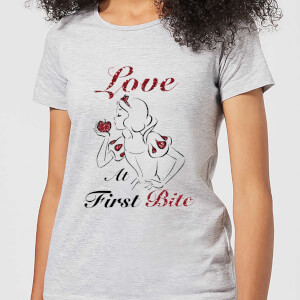 T-Shirt Femme Love At First Bite - Blanche - Neige (Princesse Disney) - Gris