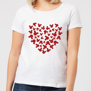 Disney Mickey Mouse Heart Silhouette Frauen T-Shirt - Weiß