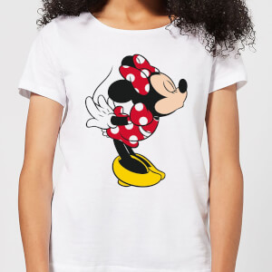T-Shirt Disney Topolino Minnie Split Kiss - Bianco - Donna
