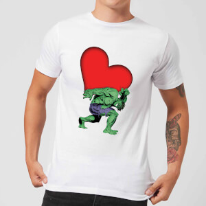Marvel Comics Hulk Heart T-Shirt - White