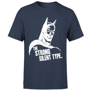 T-Shirt Homme The Strong Silent Type - Batman (DC Comics) - Bleu Marine