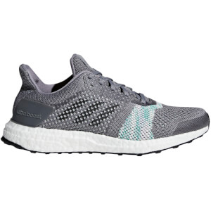 adidas Women's Ultraboost ST Running Shoes - Black/Green