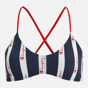 Champion Women's Cross Back Bikini Top - Wht/All Over