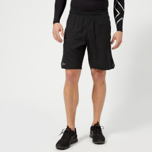 2XU Men's Training 2 in 1 Compression 9 Inch Shorts - Black/Silver