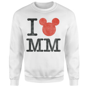 Disney Mickey Mouse I Heart MM Sweatshirt - White