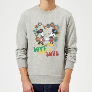 Disney Mickey Mouse Hippie Love Sweatshirt - Grey