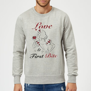 Sweat Homme Love At First Bite - Blanche - Neige (Princesse Disney) - Gris